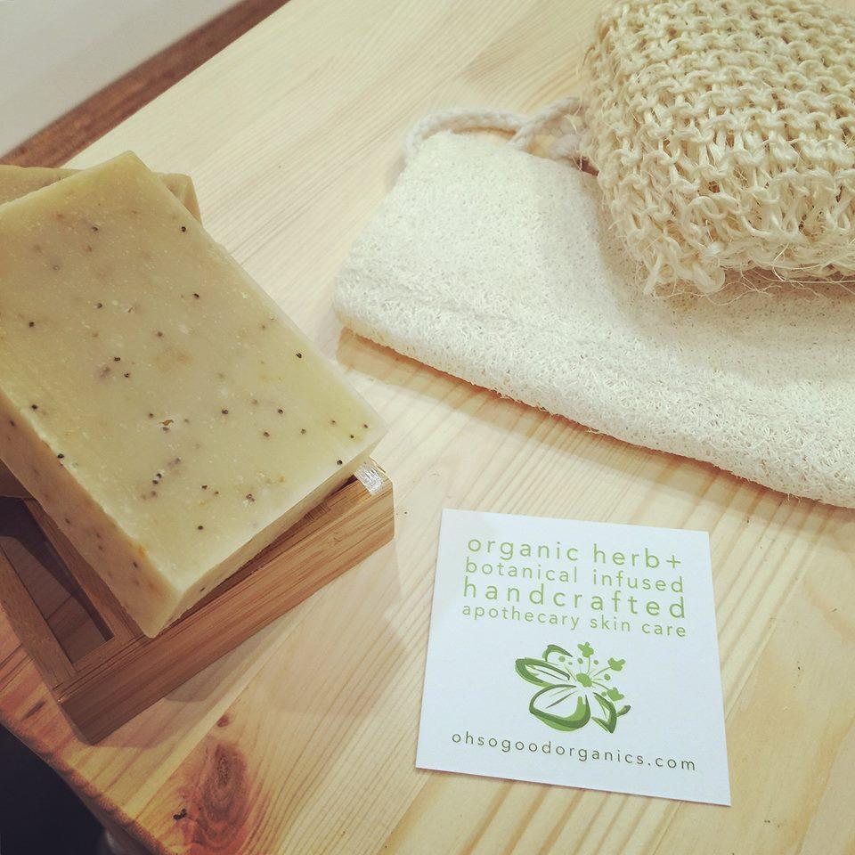 organic sweet orange poppy exfoliating soap