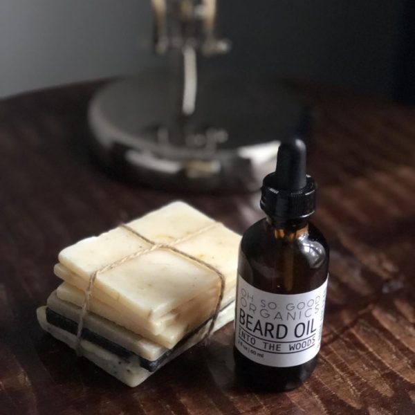 's soap + beard oil promo photos